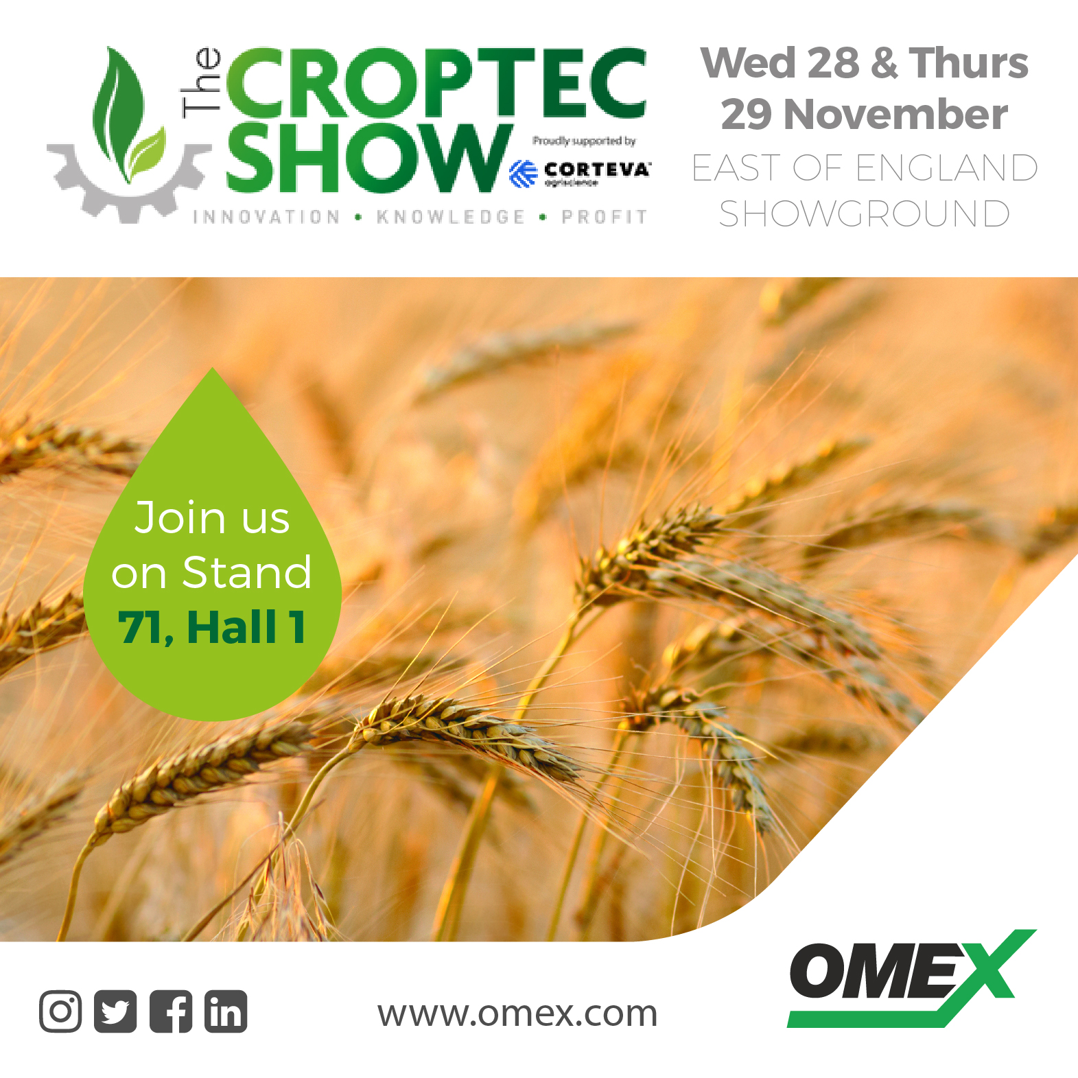The Croptec Show, 28th & 29 November