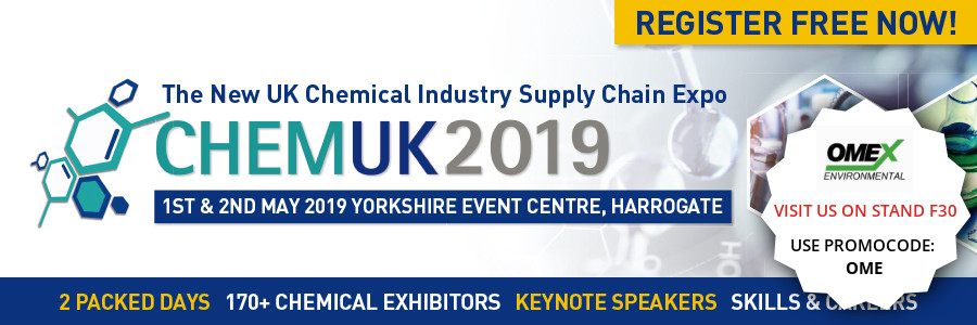 Visit us next week at CHEMUK 2019