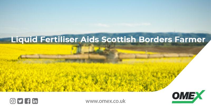 Liquid Fertiliser Aids Scottish Borders Farmer