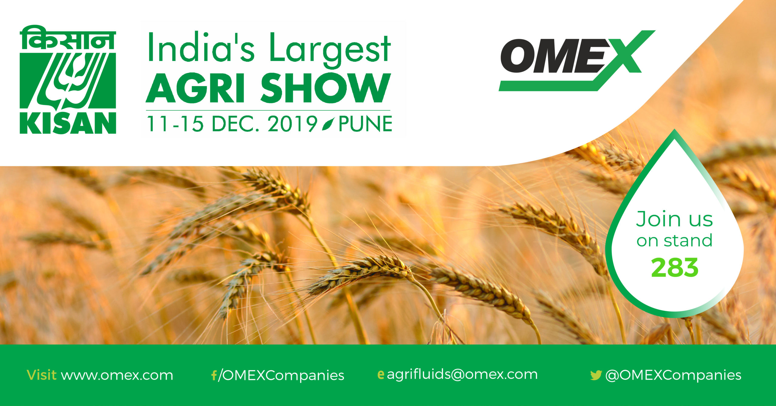 Visit us at India's Largest Agri Show