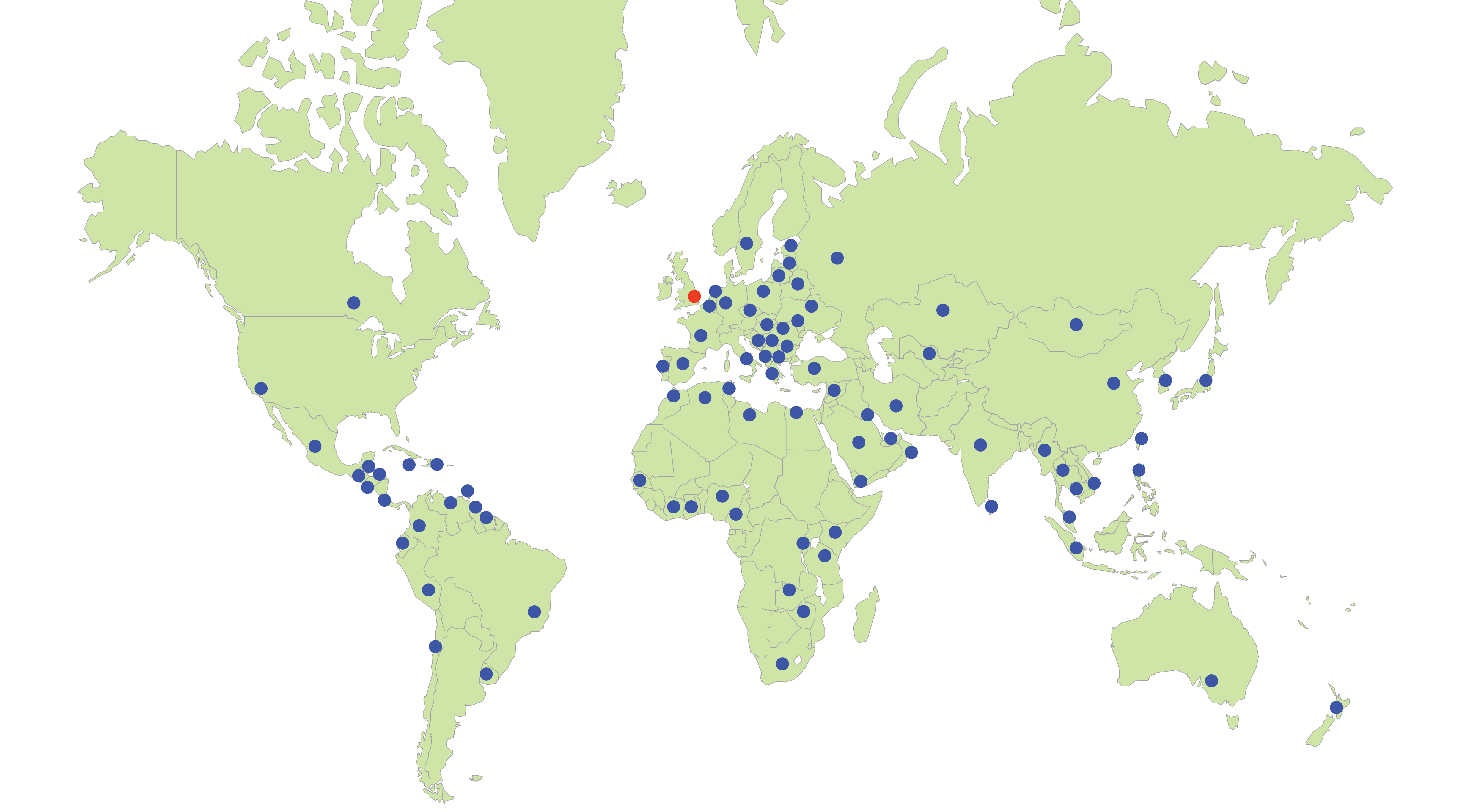 OMEX Global Distribution Map
