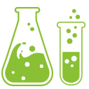 Footer Image of chemistry bottles