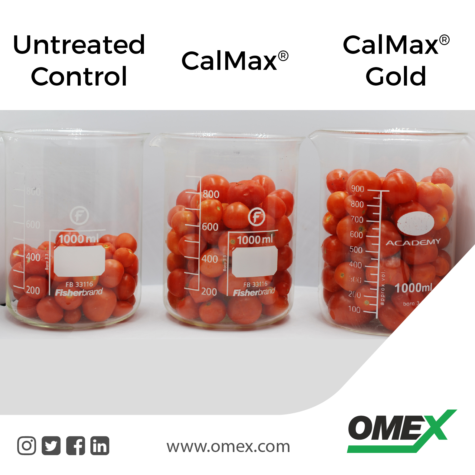 OMEX's Calcium fertilizer delivers great results!