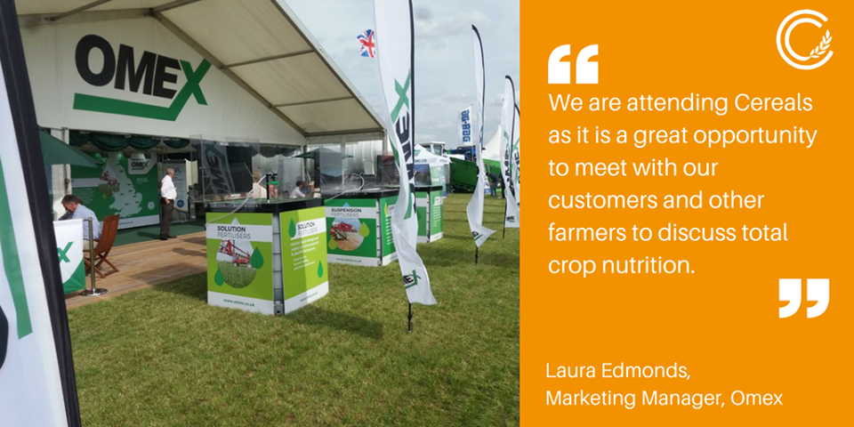 OMEX are attending Cereals